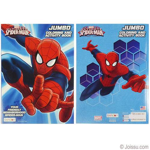 Jumbo Spiderman Coloring Activity Books Wholesale Bulk Www Joissu Com