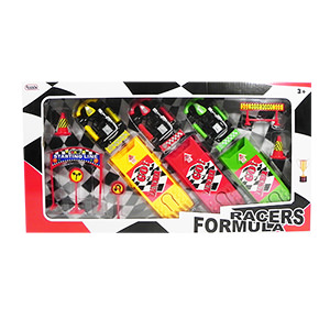 Formula Racers Play Set - 12 Piece Set