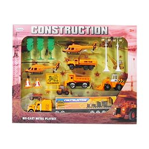 Construction Die-Cast Car Play Set - 14 Piece Set