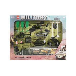 Military Die-Cast Car Play Set - 14 Piece Set