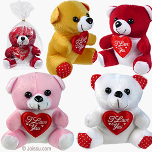 Wholesale 6 Mini Plush Flannel I Love You Bears Bulk Pric Www