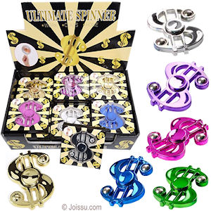 Metallic Dollar Sign Hand Spinners
