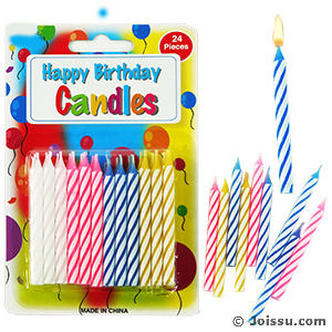 Birthday Candles 24 Pieces