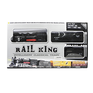 Light-up Rail King Train Play Set with Sound - 15 Piece Set