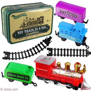 16 Piece Toy Trains in Tins