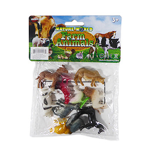 Nature World Mini Farm - 10 Piece Set