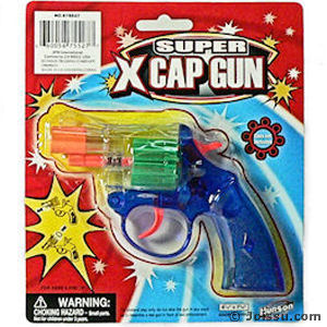 Translucent Super X Cap Guns Pistol
