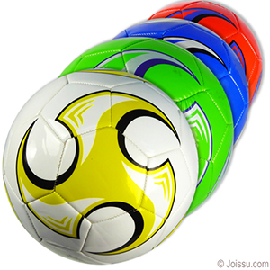 Official Size Colorful Swirl Soccer Balls