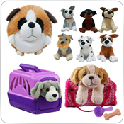 Plush & Toy Dogs, Puppies, Cats, Kittens