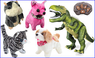 Battery Operated Walking & Animated Animals