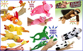 Plush Fling Shot Animals, Flingshot Monkey Wholesale